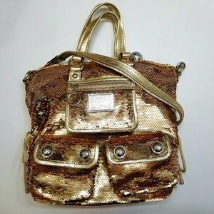 NWOT Coach Poppy Spotlight Gold Sequin Tote Bag